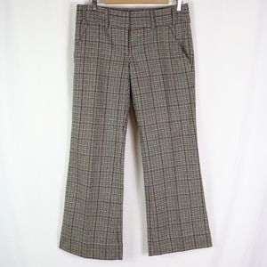 THE LIMITED DREW FIT WOOL BLEND PLAID TROUSERS 8